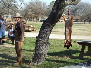 Nash Farm hosts a hog butchering workshop each year in January. (Photo Courtesy of John Onderdonk)