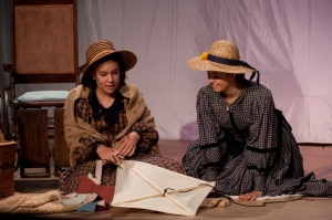Junior Sarah Jessie (left) was nominated as Featured Performer for her role as Beth in Little Women. (Photo from RAWR Archives)