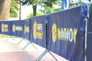 SEC Nation came to campus on for the Sept. 20 Florida-Alabama football game. SEC Network filmed the show in front of Moore Hall.